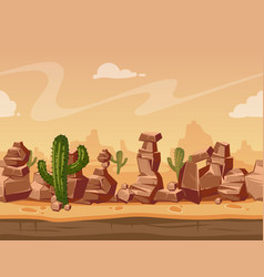 cartoon horizontal seamless landscape with vector image