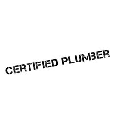Certified plumber rubber stamp vector