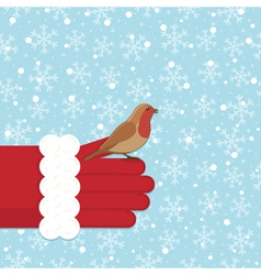 christmas robin vector image