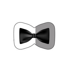 color sticker bow tie icon vector image vector image