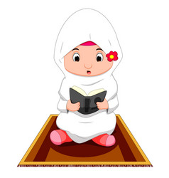 female muslim praying vector image vector image