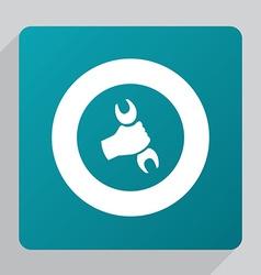 flat repair icon vector image vector image