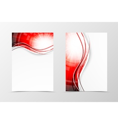 Front and back wavy flyer template design vector image vector image