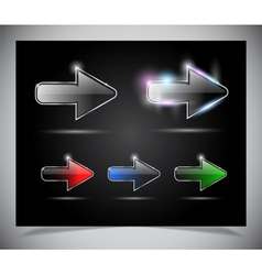 Glass arrow icon vector image