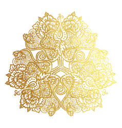 Golden tribal mandala vector