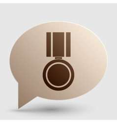 Medal sign Brown gradient icon on vector image