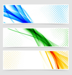 modern colorful futuristic hi-tech header set vector image vector image