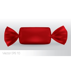 Red rectangular candy package vector