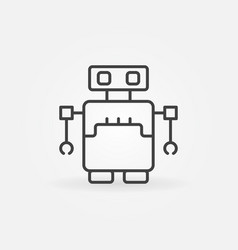 robot concept icon in outline style vector image