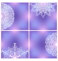 Set Of Backgrounds With Lacy Patterns vector image vector image