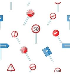 Sign pattern cartoon style vector
