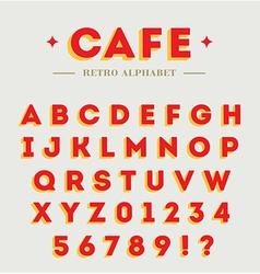 Simple branding alphabet vector image vector image