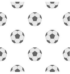 Soccer ball pattern flat vector