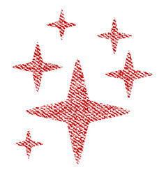 Sparkle stars fabric textured icon vector