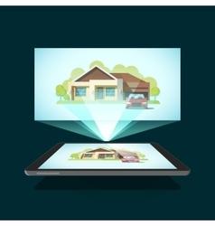 Tablet video projector vector image vector image