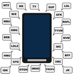 Texting lingo vector