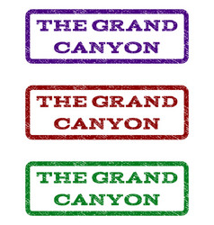 The grand canyon watermark stamp vector