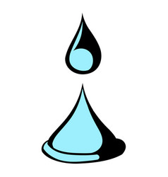 water drop icon icon cartoon vector image