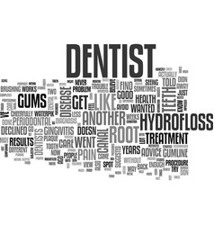 What works for oral health text word cloud concept vector