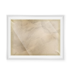 White frame with old paper eps 10 vector