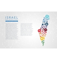 Israel dotted background vector