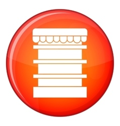 Empty supermarket refrigerator icon flat style vector