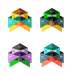 Collection of colorful geometric shape vector