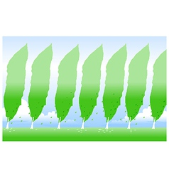 Lined green tree vector