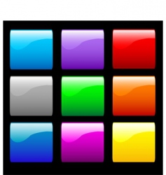 Smooth shiny buttons vector