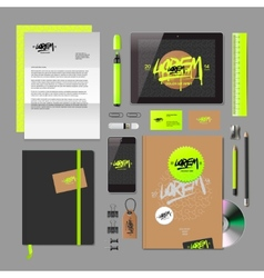 Corporate identity mock-up vector