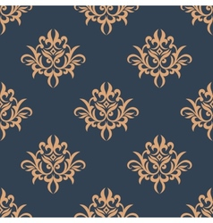 Floral retro seamless pattern vector image