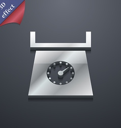 Kitchen scales icon symbol 3d style trendy modern vector