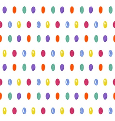 Cute seamless pattern with oval confetti donut vector