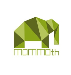 Mammoth in polygon style vector