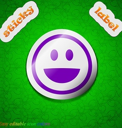 Funny face icon sign symbol chic colored sticky vector