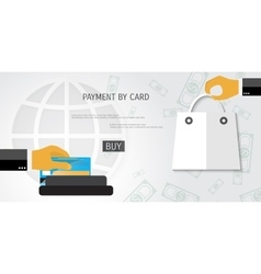 Payment by card concept vector