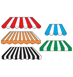 Striped awnings vector