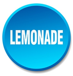 Lemonade blue round flat isolated push button vector