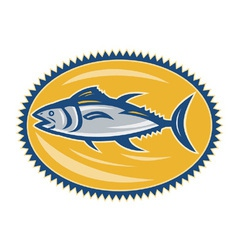 Blue fin tina side retro vector