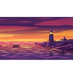 Colorful lighthouse for any vector image