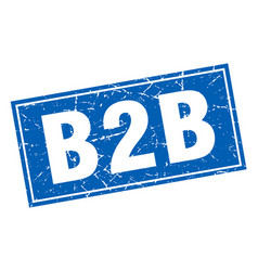 B2b square stamp vector