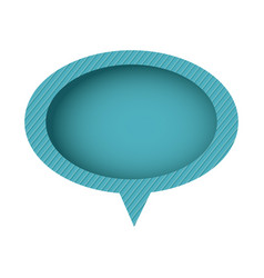 Blue chat oval bubble icon vector