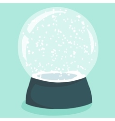 Bright with cute cartoon snow globe vector image