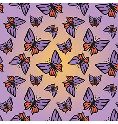 Butterfly pink-purple seamless texture vector