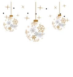 christmas ball isolated b vector image