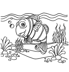 clownfish coloring pages vector image vector image