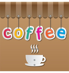 coffee shopfront sign vector image vector image