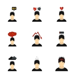Emotions icons set flat style vector image