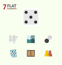 Flat icon games set of backgammon dice people vector