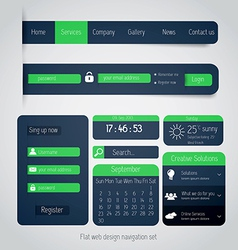 flat web design elements 2 vector image